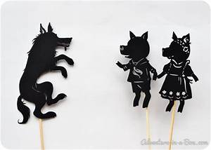 Three Little Pig Shadow Puppet Printables - Adventure in a Box