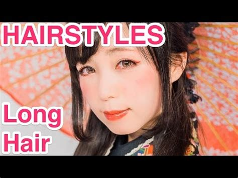 kawaii hair styles long hair  kimono  japanese