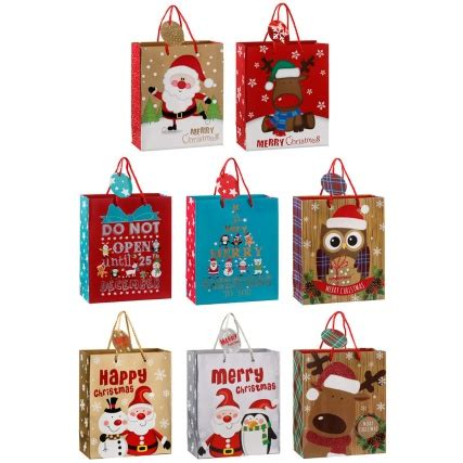 medium novelty christmas gift bags xmas gift bags b m