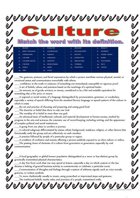 Culture Task Worksheet  Free Esl Printable Worksheets Made By Teachers