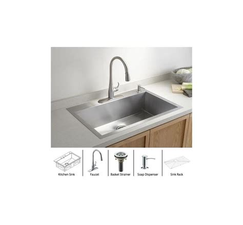 faucet com in stainless sink polished chrome basket