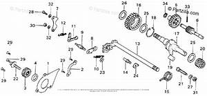 Honda Motorcycle Models With No Year Oem Parts Diagram For Kick Starter   Gearshift