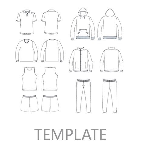 Blank Cycling Jersey Template