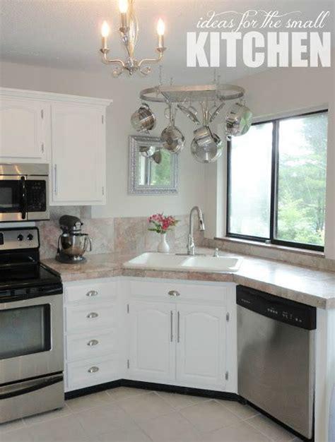 inspiring corner kitchen sink cabinet designs