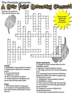Harry Potter Printable Crossword Puzzle