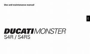 Ducati Ms4r S4rs 2008 Owner U2019s Manual