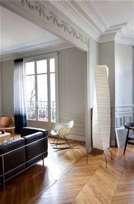 deco salon blanc dans appartement haussmannien deco