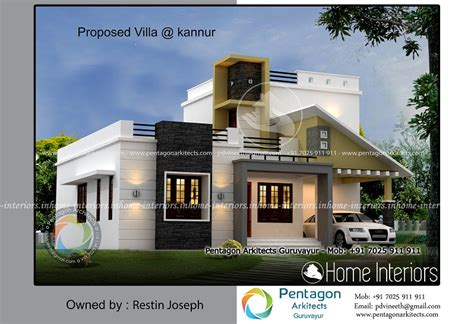 1125 Sq Ft Single Floor Contemporary Home Design - Home