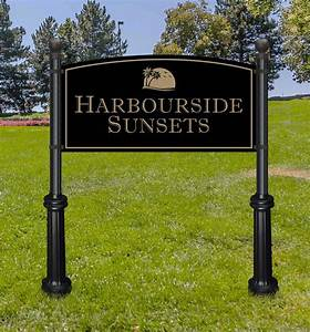 Extra, Large, Commercial, Sign, And, Decorative, Posts