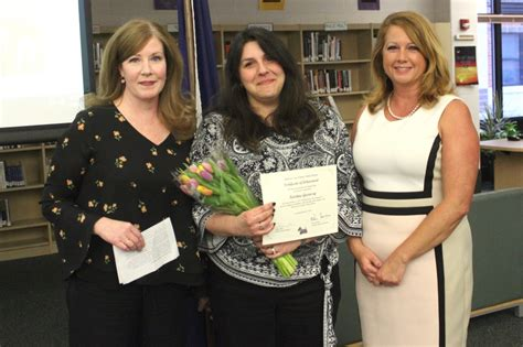 Art Teacher Recognized By Ballston Spa Board Of Education