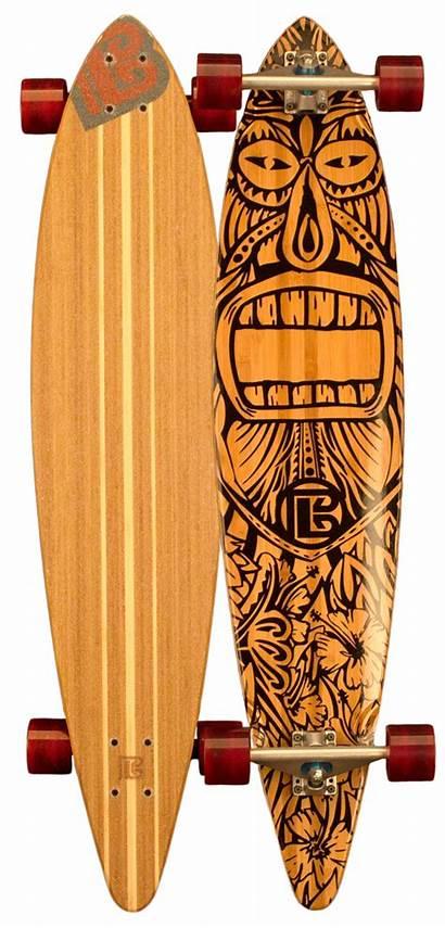 Longboard Pintail Skateboard Surfboard Tiki Painting Skate