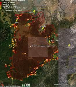 Wallow Fire Arizona Map