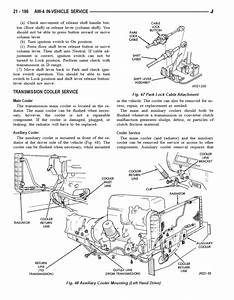 Automatic Transmission Cooling Lines Routing Diagram