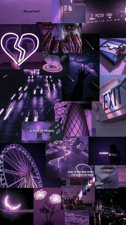 Aesthetic Wallpapers Purple Fondos Iphone Pastel Glitch