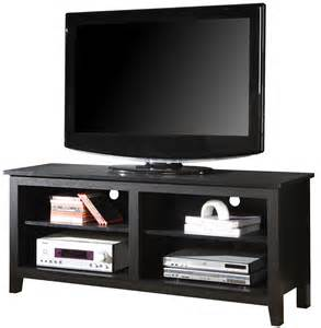 Walker Edison Tv Stand by 58 Inch Open Shelf Wood Tv Stand In Tv Stands