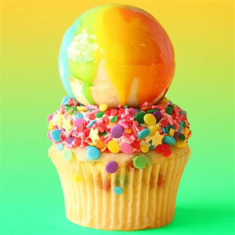 white chocolate nick 39 s rainbow mirror glaze cupcakes how to cake it