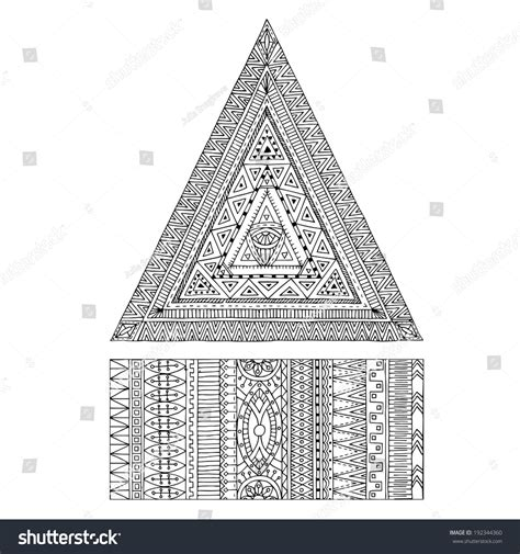 original drawing tribal doddle triangle tribal stock