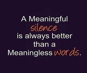 Silence Quotes ... Smile N Silence Quotes