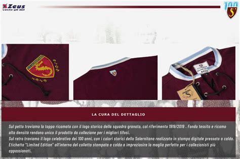 class salernitana home centenary kits released