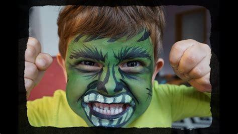 Pintar Cara Nino Hulk Facil imagen para colorear