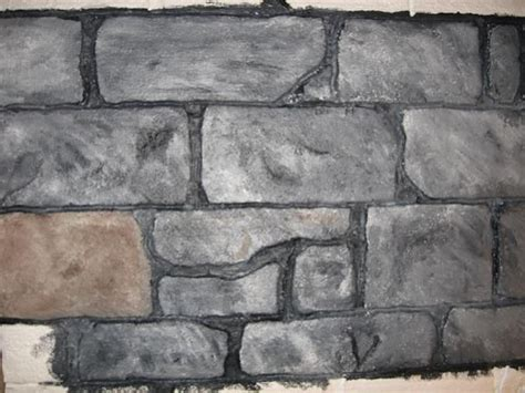 Faux Stone Wall From Foam Sheet, Painted After Using Heat