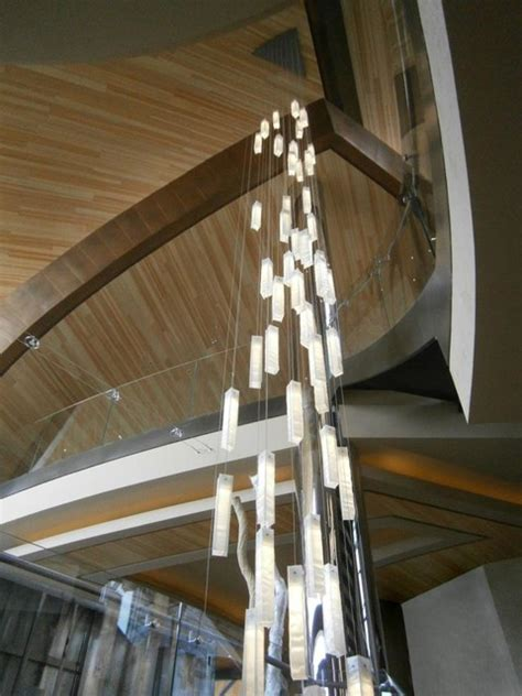 modern chandeliers for high ceilings modern lighting for foyer modern entry stairway lights