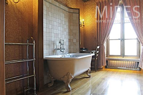 baignoire a l ancienne salle de bains mires