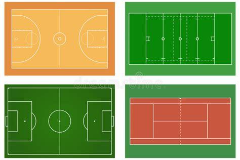 basketball court tennis court american football field sport  stock vector illustration