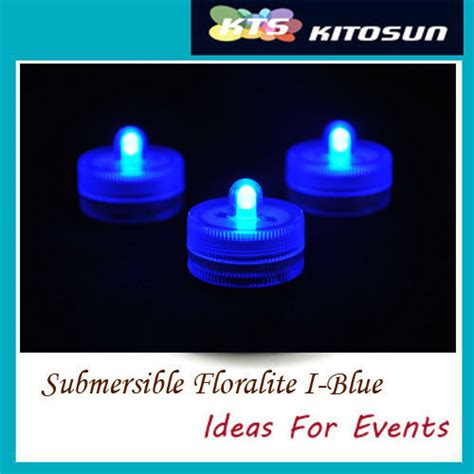 10 blue led submersible tea lights centerpieces decoration