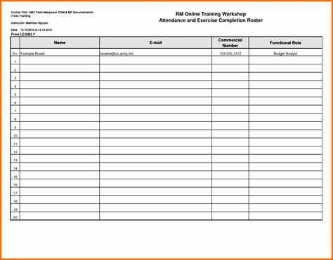 roster template excel 12 attendance roster template excel exceltemplates exceltemplates
