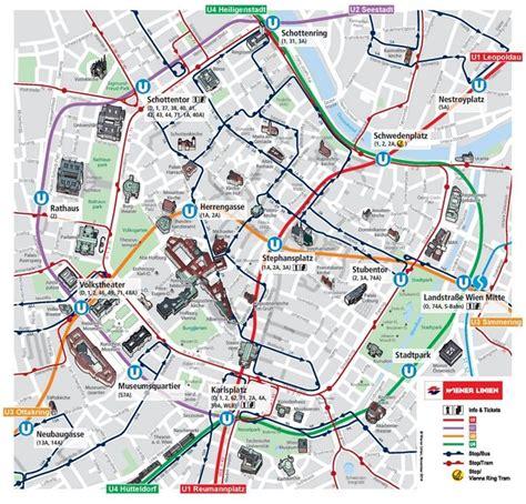 vienna city center map vienna   vienna map