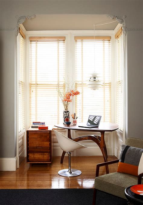 bay window office the eclectic interior design of an edwardian home in s f