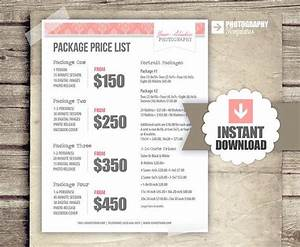 17 best ideas about photography price list on pinterest for Wedding photo print packages