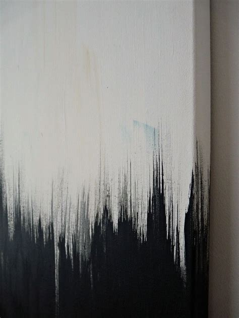 Abstract Paintings Black And White by Simple But Striking Black White Diy Abstract Painting