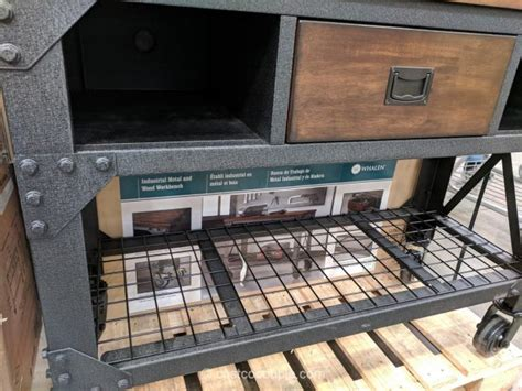 whalen industrial metal  wood workbench