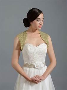 Sequin silver wedding bolero jacket sequin 001 gold for Wedding dress bolero jacket