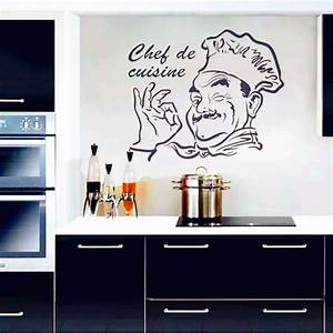 Kitchen wall stickers chef de cuisine removable