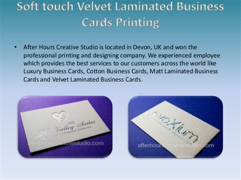 Soft Touch Velvet Laminated Business Cards Printing Business Card With Stickers Marketing Tips Cards And Uk Keyes Template Modern Templates Free Download Psd Scanner Software Windows Multiple Titles To Print