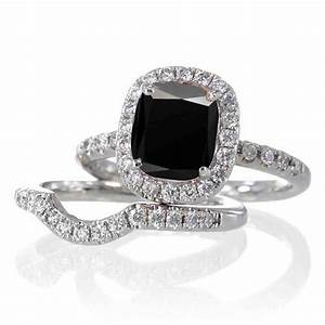 Black diamond wedding ring sets for women wedding and for Ladies diamond wedding ring sets