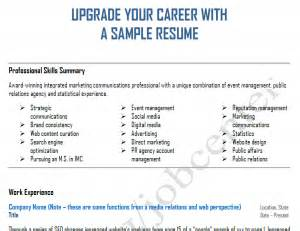 Integrated Marketing Communications Resume by Upgrade Your Career And Resume With Integrated Marketing