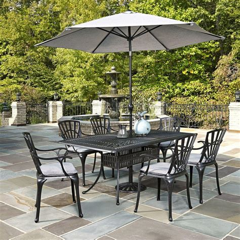 home styles largo taupe 7 all weather patio dining