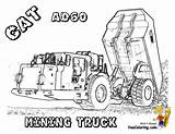 Coloring Pages Truck Construction Dump Cat Underground Ad60 Excavator Mining Equipment Digging Yescoloring sketch template