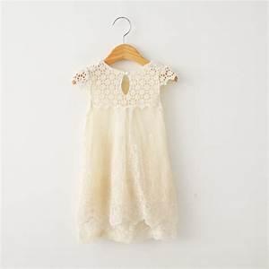 Robe Boheme Fille : robe petite fille dentelle brodee beige boho boheme chic ~ Melissatoandfro.com Idées de Décoration