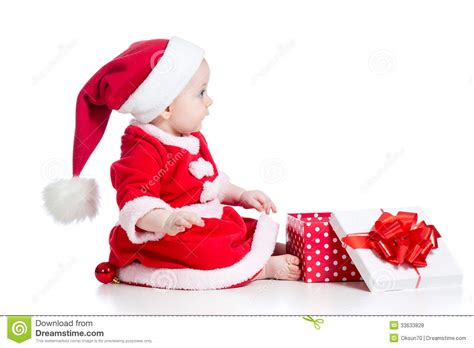 toddler girl christmas gifts baby royalty free stock photos image 33633828