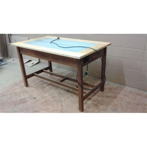 light table for tracing wooden drafting light tracing table 60 x 36 x 37 allsold