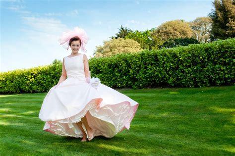Unique Wedding Dresses Non White Bridal Gown 1950s