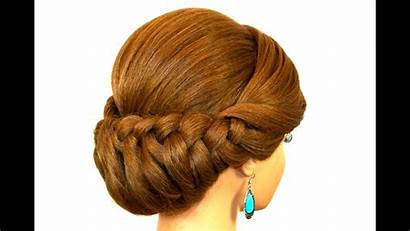 Updo Hair Braided Hairstyle Medium Tutorial Hairstyles