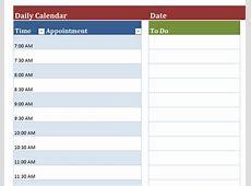 Daily Calendar monthly printable calendar