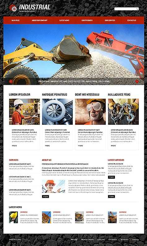Black Responsive Joomla Template by White Black Industrial Joomla Theme By Di Industrial
