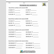 4th Grade Math Worksheets Reading, Writing And Rounding Big Numbers